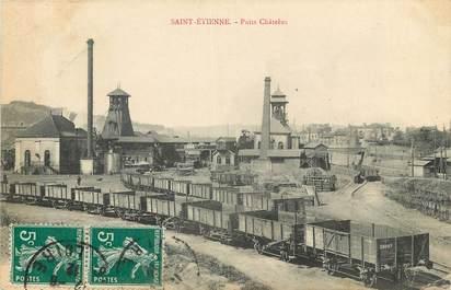 """CPA FRANCE 42 """"Saint Etienne, Mine, Puits Châtelus"""""""
