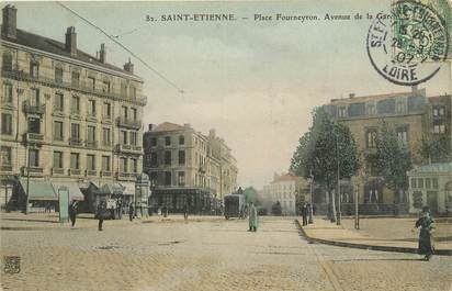 "CPA FRANCE 42 ""Saint Etienne, Place Fourneyron, avenue de la gare"""