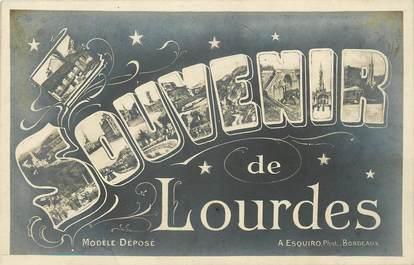 """CPA FRANCE 65 """"Un souvenir de Lourdes"""""""
