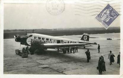 "CPSM FRANCE 93 ""Le Bourget, compagnie Lufthansa, avion allemand"""