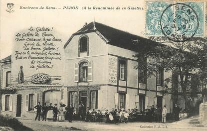 """CPA FRANCE 89 """"Paron, à la renommée de la Galette"""""""
