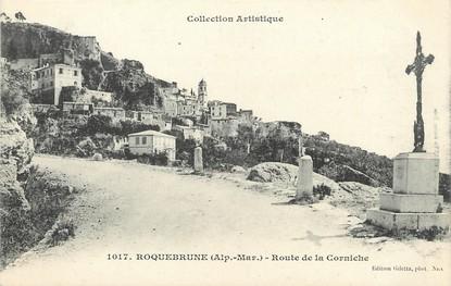 """CPA FRANCE 06 """"Roquebrune, route de la Corniche"""""""