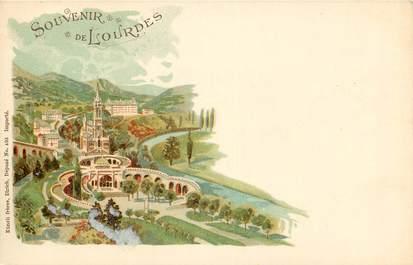 """CPA FRANCE 65 """"Souvenir de Lourdes"""""""