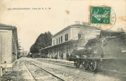 """CPA FRANCE 83 """"Draguignan, la gare"""""""