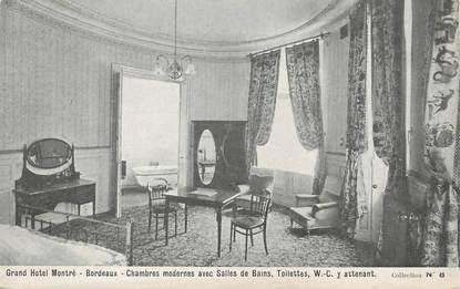 """CPA FRANCE 33 """"Bordeaux, grand hôtel Montré, chambres modernes"""""""