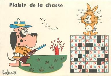 """CPSM ILLUSTRATEUR BARBEROUSSE """"Plaisir de la chasse"""""""
