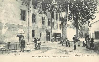 """CPA FRANCE 83 """"Draguignan, Place de l'Observance"""""""