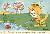 """Illustrateur CPSM ILLUSTRATEUR BARBEROUSSE """"..A la pêche"""""""