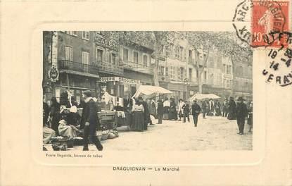 """CPA FRANCE 83 """"Draguignan, Le Marché"""""""
