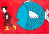 """Illustrateur CPSM ILLUSTRATEUR BIZ """"A bon pêcheur rien d 'impossible"""""""