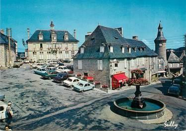 """CPSM FRANCE 19 """"Meymac, la place de la Fontaine, la mairie"""""""