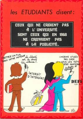 """CPSM ILLUSTRATEUR BIZ """"Les Etudiants"""""""
