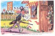 """Illustrateur CPSM ILLUSTRATEUR BOZZ """" Que le jockey qui montait le 6 veuille bien sortir"""""""