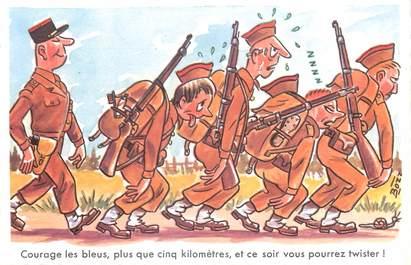 """CPSM ILLUSTRATEUR BOZZ """" Courage les bleus..."""""""