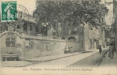 """CPA FRANCE 83 """"Draguignan, rue de la République"""""""
