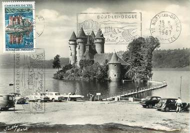 "CPSM FRANCE 19 ""Lanobre, château de Val"" / CARTE MAXIMUM"