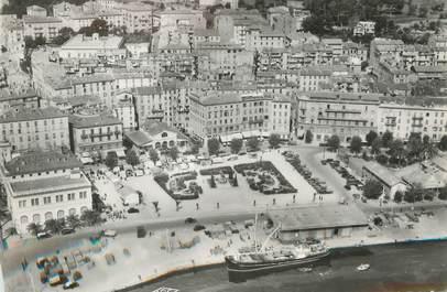 """CPSM FRANCE 20 """"Corse, Ajaccio, vue générale aérienne sur la ville et place César Campinchi"""""""