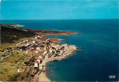 """/ CPSM FRANCE 20 """"Corse, Algajola, vue d'ensemble du village et de la plage"""""""