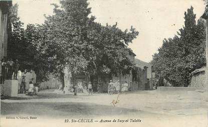 """CPA FRANCE 84 """"Sainte Cécile, avenue de Suze"""""""