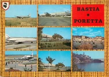 "/ CPSM FRANCE 20 ""Corse, Bastia, et son terrain d'aviation de Poretta"" / AEROPORT"