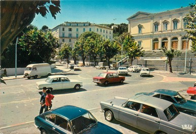 """/ CPSM FRANCE 20 """"Corse, Bastia, la place du palais de justice"""""""