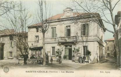 """CPA FRANCE 84 """"Sainte Cécile, la mairie"""""""