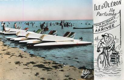 """/ CPSM FRANCE 17 """"Ile d'Oléron, les pédales sur la plage"""""""