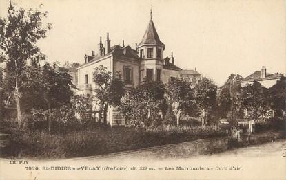 "/ CPA FRANCE 43 ""Saint Didier en Velay, les marronniers"""