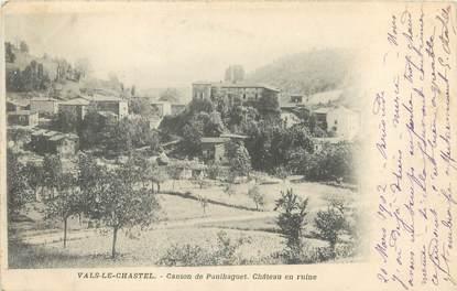 """/ CPA FRANCE 43 """"Vals Le chastel, canton de Paulhaguet, château en ruine"""""""