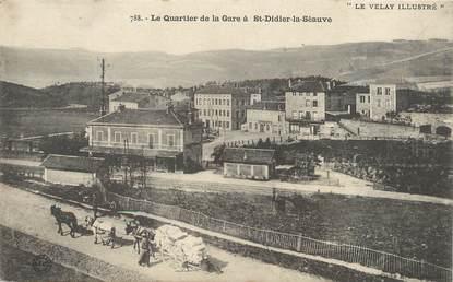 """/ CPA FRANCE 43 """"Saint Didier la Séauve, le quartier de la gare"""""""