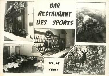"""CPSM FRANCE 84 """"Sault, restaurant des Sports"""""""