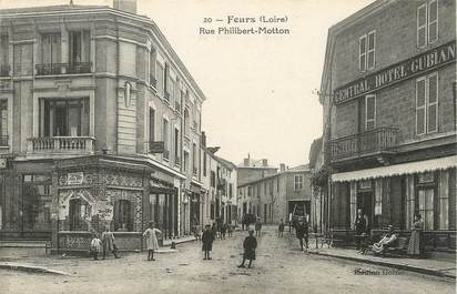 "/ CPA FRANCE 42 ""Feurs, rue Philibert Motton """