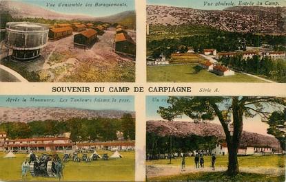 """/ CPA FRANCE 13 """"Souvenir du Camp de Carpiagne"""" / TANK"""