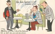"""Illustrateur CPA ILLUSTRATEUR CHEN """"Un bon buveur n'est jamais pris"""""""
