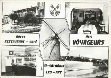 """CPSM FRANCE 84 """"Saint Saturnin les Apt, Hotel des voyageurs"""""""