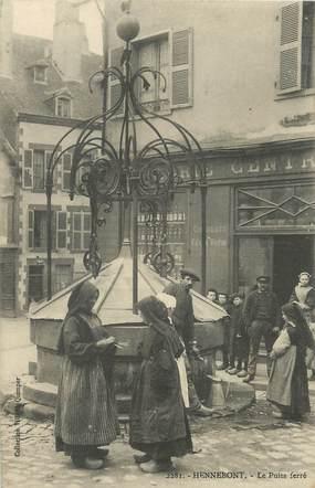 """/ CPA FRANCE 56 """"Hennebont, le puits ferré"""""""