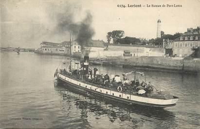 """/ CPA FRANCE 56 """"Lorient, le bateau de Port Louis"""""""