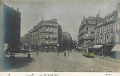 """CPA FRANCE 80 """"Amiens, La Place Saint Denis"""""""