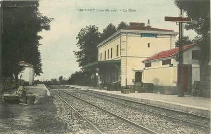 """CPA FRANCE 84  """"Cadenet, la gare"""""""