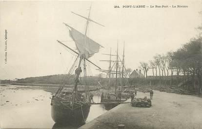 """/ CPA FRANCE 29 """"Pont l'Abbé, le bas port, la rivière"""""""