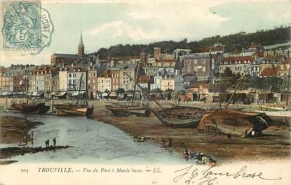 """CPA FRANCE 14 """"Trouville, vue du port à marée basse"""""""