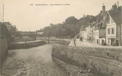 """/ CPA FRANCE 29 """"Quimperlé, quai Brizeux, le port"""""""