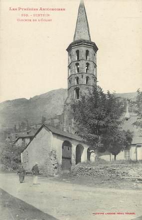 "/ CPA FRANCE 09 ""Sentein, clocher de l'église """