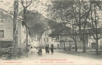 """/ CPA FRANCE 09 """"Les Cabannes, entrée de la ville"""""""