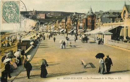 """CPA FRANCE 80 """"Mers sur Mer, la promenade de la plage"""