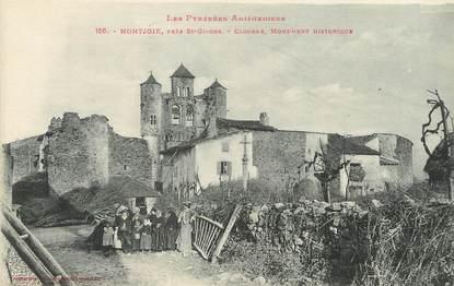 """/ CPA FRANCE 09 """"Montjoie, près Saint Girons, clocher, monument historique"""""""