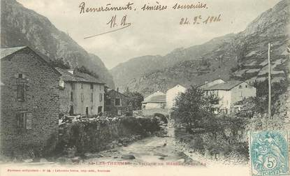 """/ CPA FRANCE 09 """"Ax Les Thermes, village de Mérens"""""""