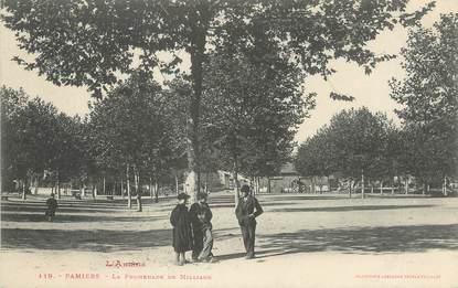 "/ CPA FRANCE 09 ""Pamiers, la promenade de Milliane"""