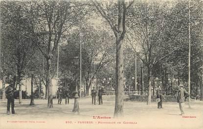 "/ CPA FRANCE 09 ""Pamiers, promenade de Castella"""