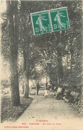 """/ CPA FRANCE 09 """"Pamiers, un coin du parc"""""""